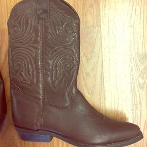 New Ladies brown cowboy boots